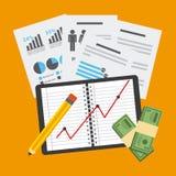 Monetary analysis Royalty Free Stock Photos
