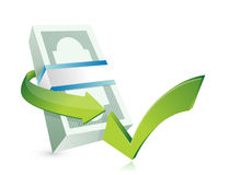 Monetary approval illustration design Stock Image