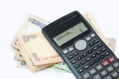 Monetary Calculations Stock Photo