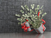 Monetary concept. A cash gift or money. Stock Photo