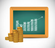 Monetary educational concept illustration design Royalty Free Stock Image