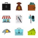 Monetary encouragement icons set, cartoon style Royalty Free Stock Photo