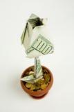 Monetary flower Royalty Free Stock Photo