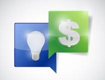 Monetary ideas communication illustration Stock Images