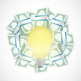 Monetary ideas concept illustration. Design over a white background Royalty Free Stock Image