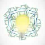 Monetary ideas concept illustration Royalty Free Stock Image