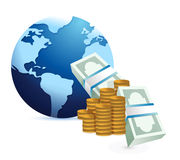 Monetary international concept Royalty Free Stock Images