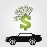 Monetary investment. Design, vector illustration eps10 graphic Stock Image