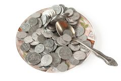 Monetary meal Royalty Free Stock Image