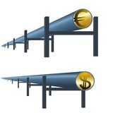 Monetary oil pipe Stock Photo