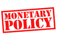 MONETARY POLICY. Red Rubber Stamp over a white background Royalty Free Stock Image