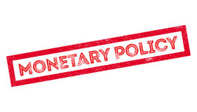 Monetary Policy rubber stamp. On white. Print, impress, overprint Stock Photos