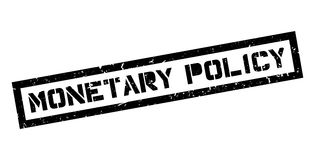 Monetary Policy rubber stamp. On white. Print, impress, overprint Royalty Free Stock Photography