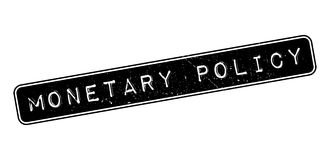Monetary Policy rubber stamp. On white. Print, impress, overprint Royalty Free Stock Images