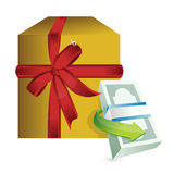 Monetary present gift illustration Royalty Free Stock Image