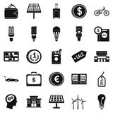 Monetary relations icons set, simple style. Monetary relations icons set. Simple set of 25 monetary relations vector icons for web isolated on white background Stock Image