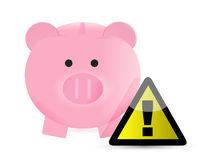 Monetary savings warning. Illustration design over a white background Stock Photos