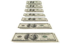 Monetary stream. This image - a design element Royalty Free Stock Photo