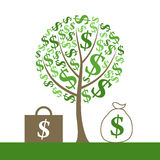 Monetary tree Stock Photography