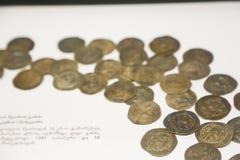 Monete al museo nazionale georgiano - Tbilisi Immagine Stock Libera da Diritti
