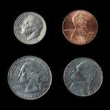 Monete americane Fotografie Stock