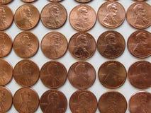 Monete americane Fotografia Stock Libera da Diritti