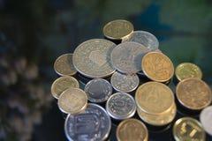 Monete americane del centesimo del dollaro, macro vista Fotografia Stock Libera da Diritti