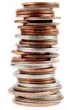 Monete americane su bianco Immagine Stock Libera da Diritti