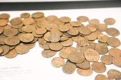Monete antiche al museo nazionale georgiano - Tbilisi Immagine Stock Libera da Diritti
