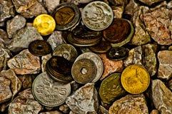 Monete antiche tailandesi Immagine Stock