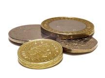Monete BRITANNICHE Fotografia Stock Libera da Diritti