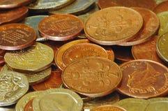 Monete BRITANNICHE - varie Fotografia Stock