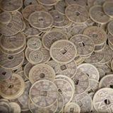 Monete cinesi bronzee antiche Immagini Stock Libere da Diritti