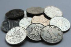 Monete cinesi del yuan fotografia stock