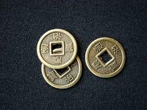 Monete cinesi di shui del feng Fotografie Stock
