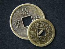 Monete cinesi di shui del feng Immagini Stock Libere da Diritti