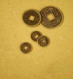 Monete cinesi di shui del feng Immagini Stock