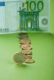 Monete con l'euro Fotografie Stock Libere da Diritti