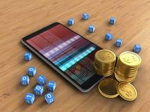 monete 3D Fotografia Stock