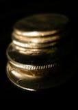 Monete d'argento Immagini Stock Libere da Diritti