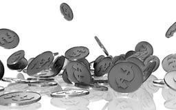Monete d'argento fotografia stock