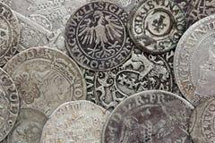Monete d'argento Fotografie Stock Libere da Diritti