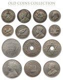 Monete d'argento antiche Fotografia Stock Libera da Diritti