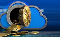 monete 3d sopra cyber Fotografie Stock