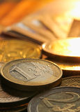 Monete degli euro Immagini Stock Libere da Diritti