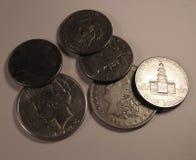 Monete degli Stati Uniti Immagini Stock