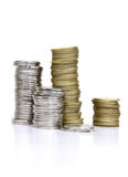 Monete dei soldi Immagini Stock