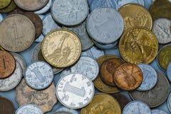 Monete dei USD, di RMB e del HKD Fotografia Stock