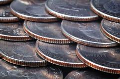 Monete del centesimo Immagini Stock