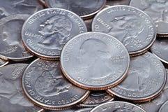 Monete del centesimo di Stati Uniti Immagine Stock Libera da Diritti